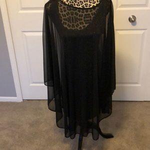 Beautiful shear black dress with tank dress